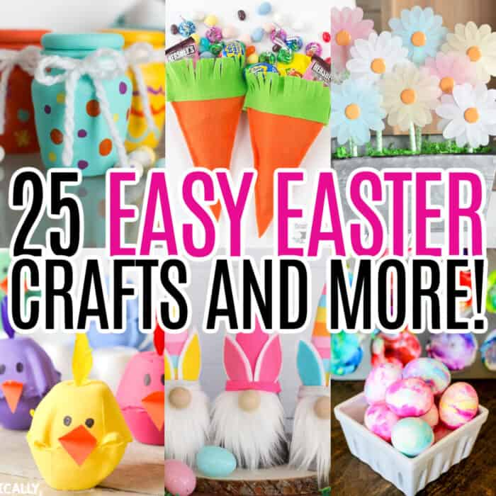 square collage of easter craft ideas with text overlay