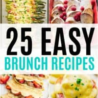 Wake up late and still get breakfast on the table with these 25 Easy Brunch Recipes!  They're sure to kick off your lazy weekend in the most delicious way!