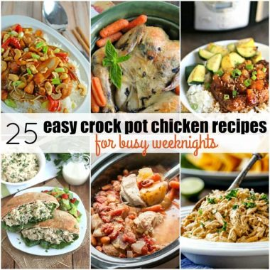 "These 25 Easy Crock Pot Chicken Recipes for Busy Weeknights are a life saver! Never dread hearing ""What's for dinner?"" with the best crock pot recipes around!"