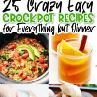 vertical collage of crock pot recipes