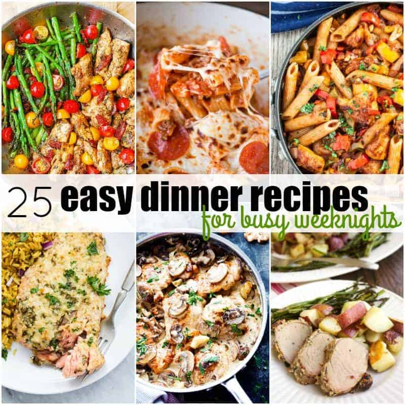25 easy dinner recipes for busy weeknights real housemoms forumfinder Image collections
