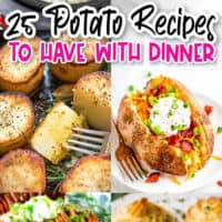 vertical collage of easy potatoes recipes to have with dinner