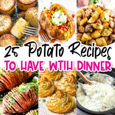 square collage of easy potatoes recipes to have with dinner