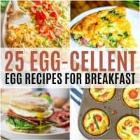 vertical collage of egg recipes for breakfast