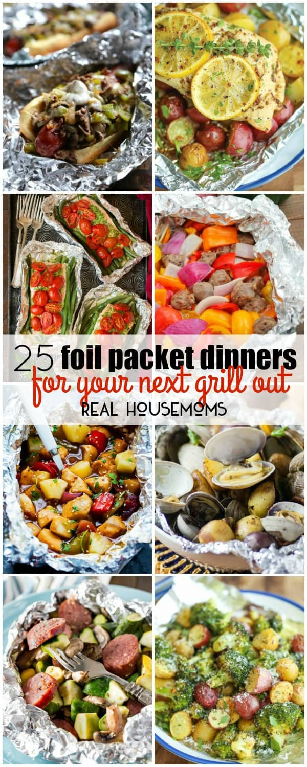 I love grilling during the summer months, but I love dinners with practically no clean up even more. With these 25 Foil Packet Dinners for Your Next Grill Out, I get the best of both worlds! These recipes are great for camping too!
