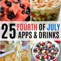 4th of july appetizers and drinks vertical collage