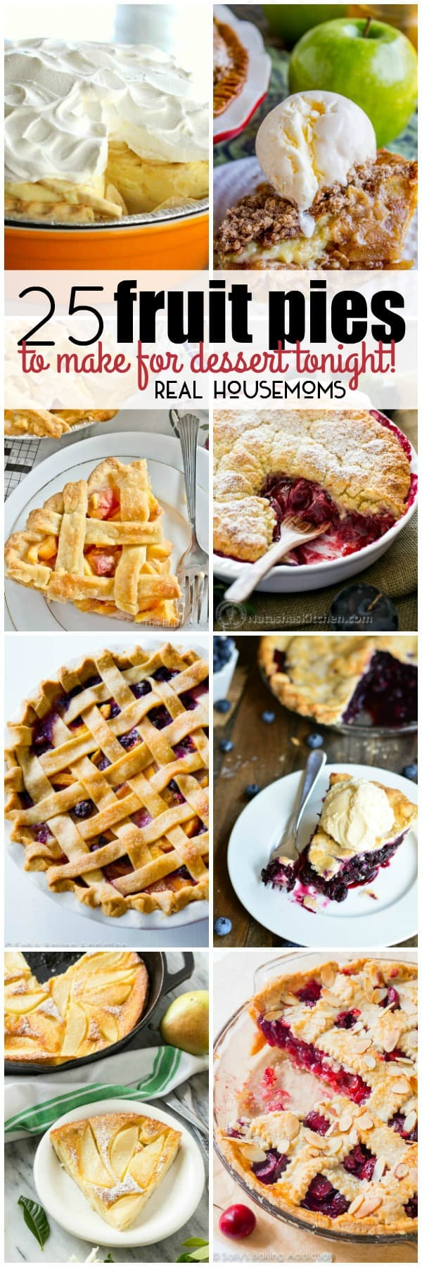 No matter which fruits are your favorite, you'll find a pie to please your palate in this list of 25 Fruit Pies to Make for Dessert Tonight!