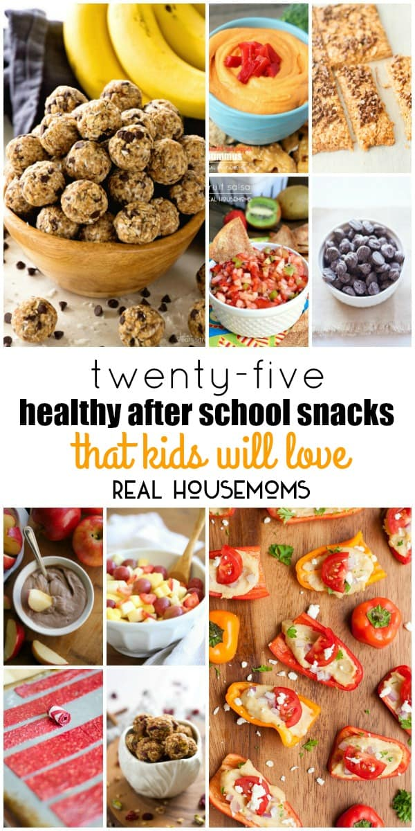 These 25 HEALTHY AFTER SCHOOL SNACKS THAT KIDS WILL LOVE are some of my favorite options to give my kids when school's out!