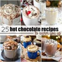 On cold winter nights, I love curling up with a blanket and a hot drink. These 25 Hot Chocolate Recipes to Warm You Up will chase away the cold and sooth you to the core!