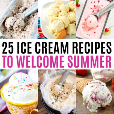 square collage of ice cream recipes with text