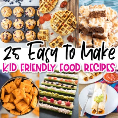 square collage of kid friendly recipes with text