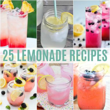 With warm summer days starting, we're thinking of ways to keep cool during the hot months. One of my favorite summer drinks is lemonade and today we've got 25 Lemonade Recipes to help you beat the heat!