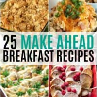 vertical collage of make ahead breakfast recieps