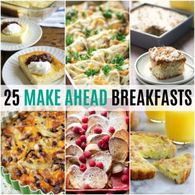 Help make your mornings a little easier with 25 Make Ahead Breakfast Recipes that are a hit with the family! Great for holiday brunch or weekend breakfast!