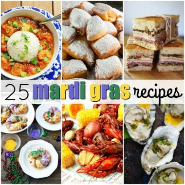 Have the best Fat Tuesday with these 25 Mardi Gras Recipes! With New Orleans classics, it doesn't matter if you're in the big easy or across the country!!