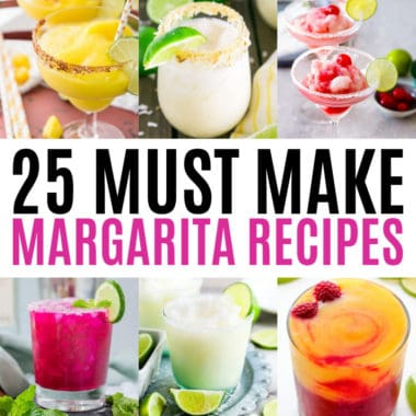 square collage of margarita recipes with text