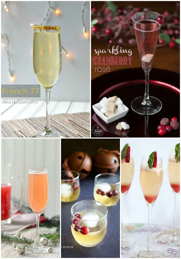champagne cocktails for New Year's Eve
