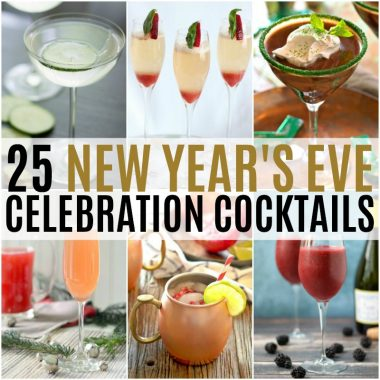 Get your party hoppin' with 25 New Year's Eve Celebration Cocktails everyone will love! You'll find it all, from traditional champagne cocktails to mocktails for the designated driver!