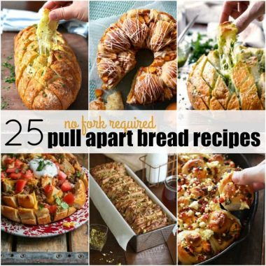 These 25 No Fork Required Pull Apart Bread Recipes will have you going back for more and more! We won't judge if you want to lick your fingers!