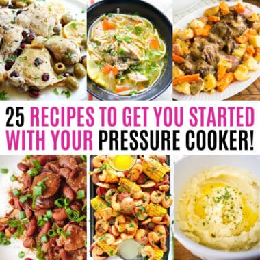 square collage of pressure cooker recipes