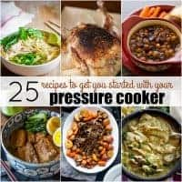 These 25 RECIPES TO GET YOU STARTED WITH YOUR PRESSURE COOKER will take you from novice to expert in a matter of meals!
