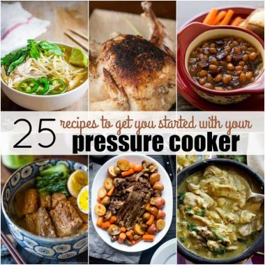 These 25 Recipes to Get You Started with Your Pressure Cooker will take you from novice to expert in a matter of meals! Grab your Instant Pot and let's get cooking!