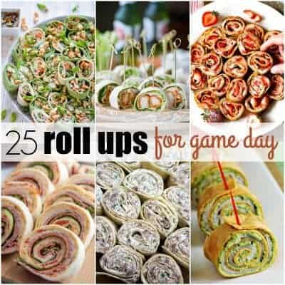 25 Roll Ups for Game Day