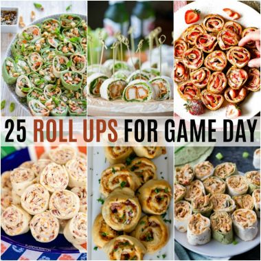 Finger foods and football games go hand in hand. These 25 Roll Ups for Game Day are sure to inspire your football party menu and make your crowd go wild!