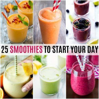 Breakfast on the go doesn't have to mean fast food. These25 Smoothies to Start Your Dayare a quick and easy way to get your day started the right way!
