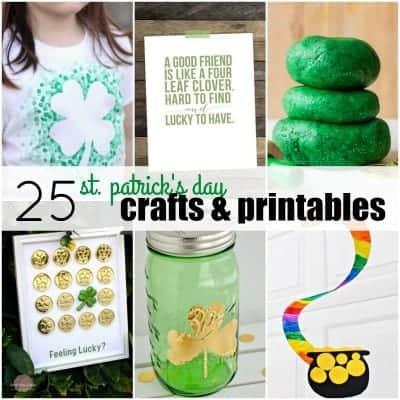 25 St. Patrick's Day Crafts & Printables