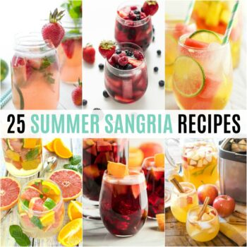Fruit and wine are best friends and these 25 Summer Sangria Recipes show off the rainbow of possibilities your cocktails can have!