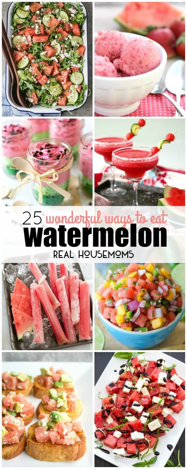 vertical collage of watermelon recipes