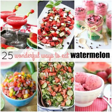 Your summer isn't complete without these 25 Wonderful Ways to Eat Watermelon! Watermelon is great in everything from dessert & salad to look-alike recipes!