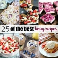 I can never get enough of eating berries in the summer, and we've rounded up 25 OF THE BEST BERRY RECIPES to satisfy those cravings!