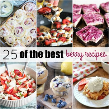 I can never get enough berries during summer! These are  25 of the Best Berry Recipes to satisfy your cravings and help you make the most out of all that gorgeous produce!