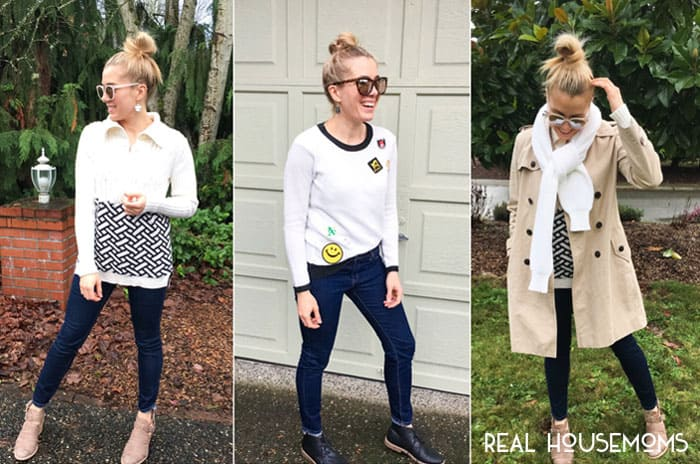Let me just start off with the following... sweaters or scarves, knits or beanies, knit or crochet, or just yarn in general, in all their varieties, is so cool right now. With that said, I have 3 ways to update your winter sweaters in less than an hour!