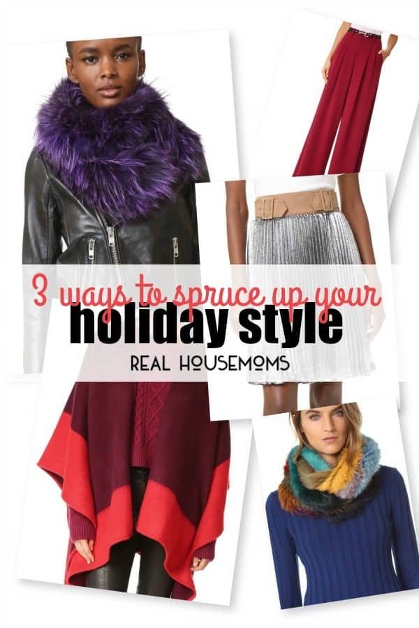 With the holidays in full speed, buying the perfect gift is constantly on the top of minds, stressing over what to wear for this holiday season should not be one of them and I have 3 easy ways to spruce up your holiday style!