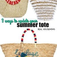 Bring new life to last year's summer bag easily using these 3 ways to update your summer tote!