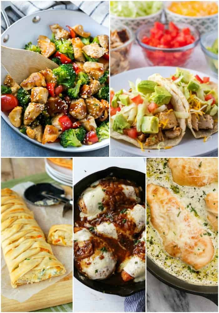 30-minute or less chicken recipes