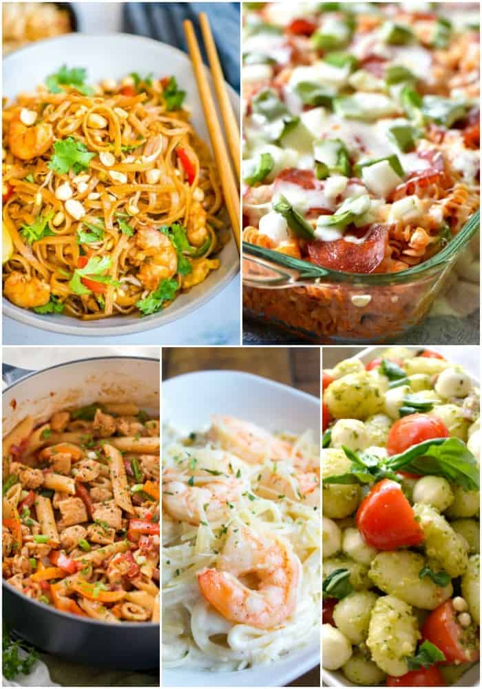 30-minute or less pasta recipes