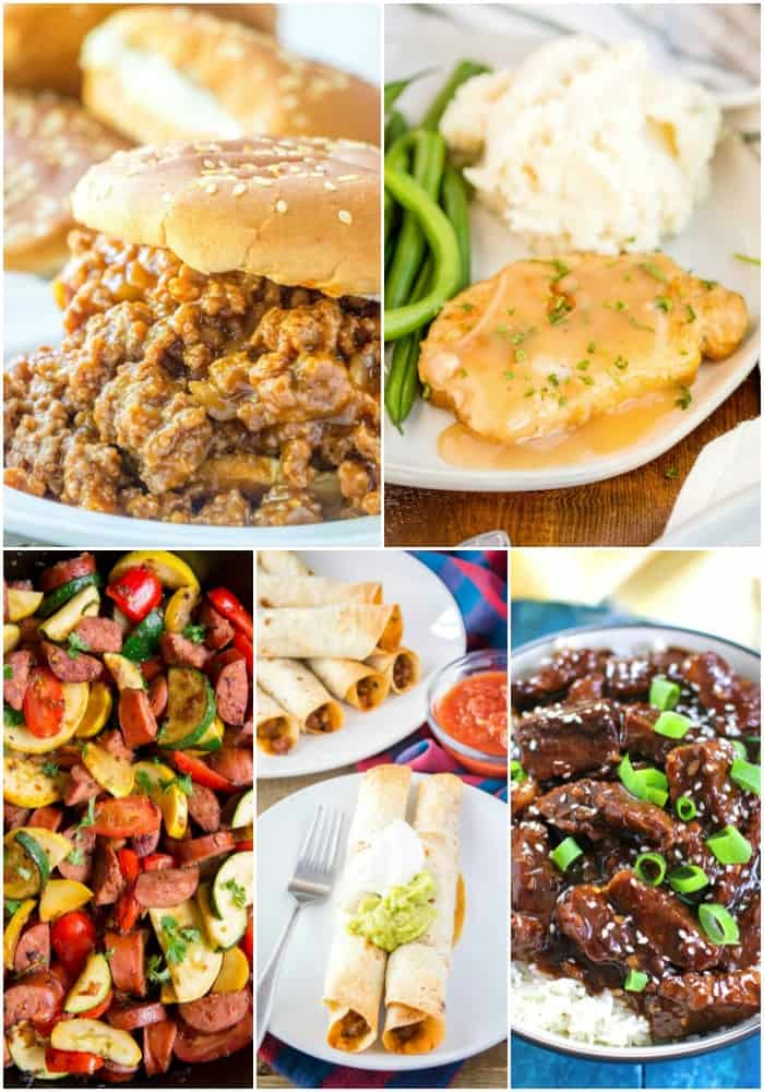 30-minute or less pork and beef recipes