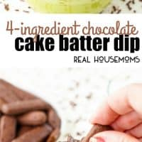 This 4-Ingredient Chocolate Cake Batter Dip is ready in just 5 minutes and is a delicious solution to your chocolate cravings!
