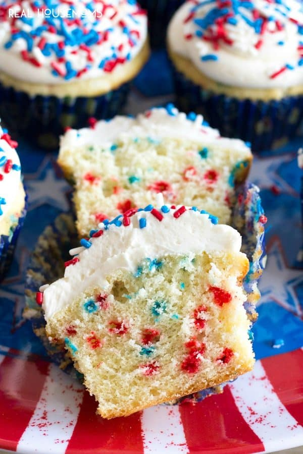 4th Of July Funfetti Cupcakes Real Housemoms