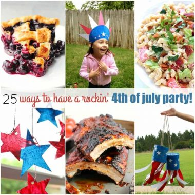 I love having company over for the fourthy, and with these 25 WAYS TO HAVE A ROCKIN' 4TH OF JULY PARTY we're sure to have a great time!