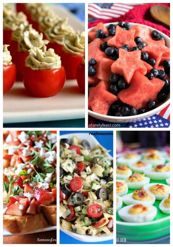 25 Fourth of July Apps & Drinks on Real Housemoms