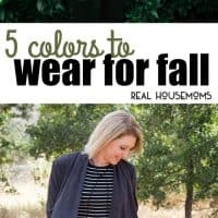 Let's talk fall colors.  From denim to jackets to plaid button downs, we're sharing our top 5 Colors To Wear for Fall!