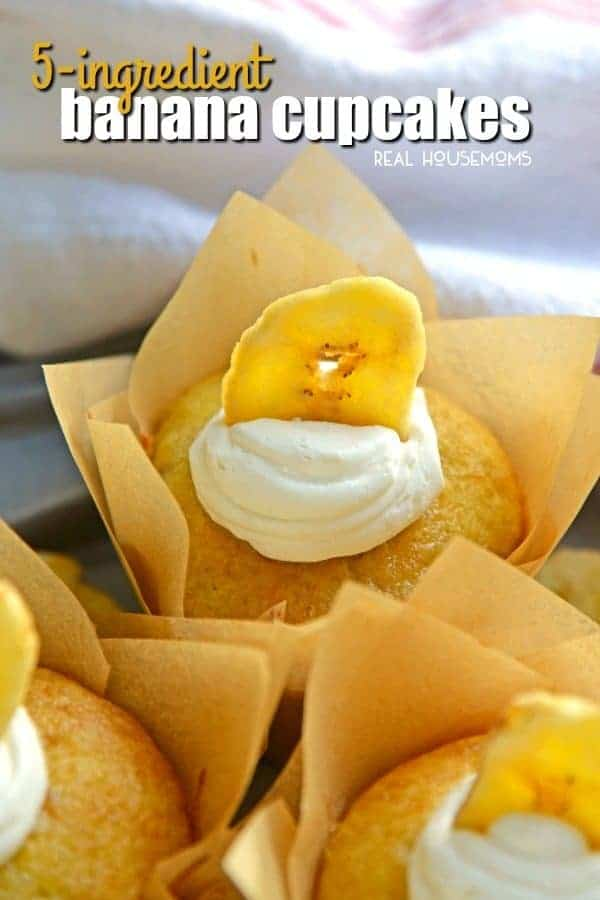 Are you ready to make the easiest cupcakes known to man? 5 Ingredient Banana Cupcakes are a fabulous alternative to making banana bread with overly ripe bananas!