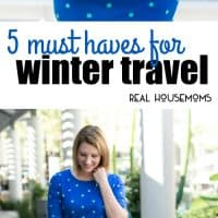 Gearing up for winter travel? We're talking about the five things that every real housemom needs to pack for holiday trips!