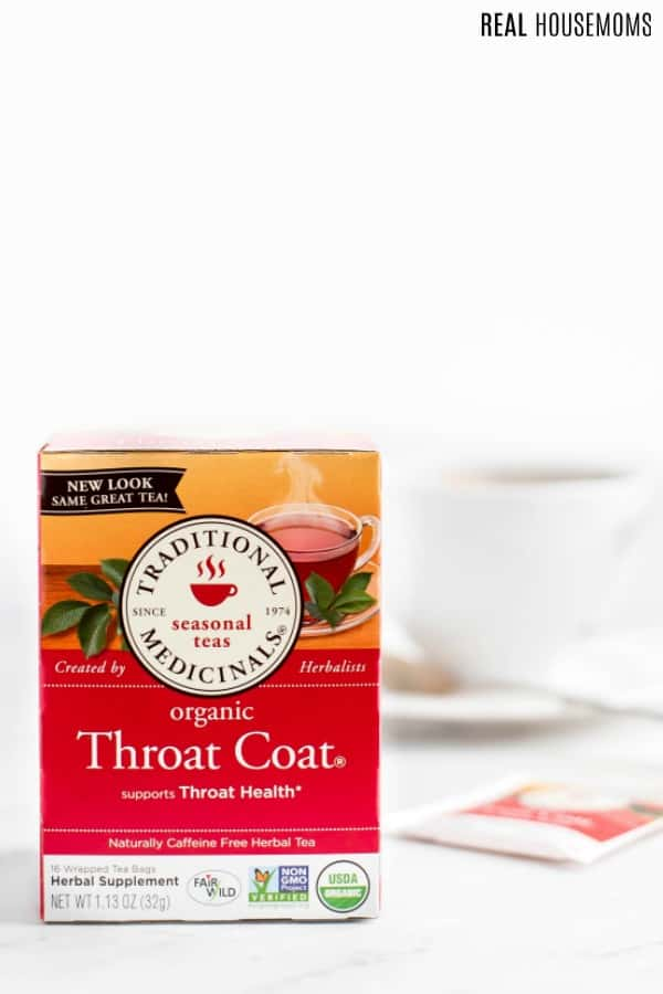 box of Traditional Medicinals Throat Coat tea