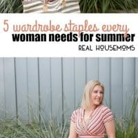 Gearing up for warm summer weather? We're sharing 5 Summer Wardrobe Staples that you NEED to own!